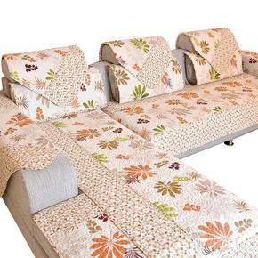 沙发垫防滑 坐垫/布艺/飘窗沙发套 全盖巾格子双面铺