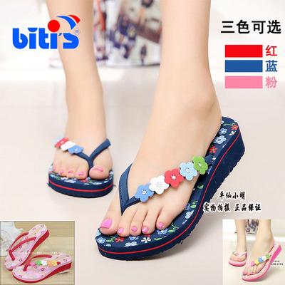 正品进口越南鞋平仙鞋女沙滩凉拖鞋低跟人字夹指时尚小花拖鞋防滑