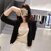 Spring 2019 New Kind of Knitted Blouse Women's Card Overcoat Korean V-neck Body-shaping Short-style Card Women's Thin