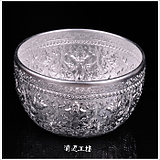 Thailand imports handmade carved tin bowl spa articles Thai decoration Southeast Asian household utensils water cup rice bowl