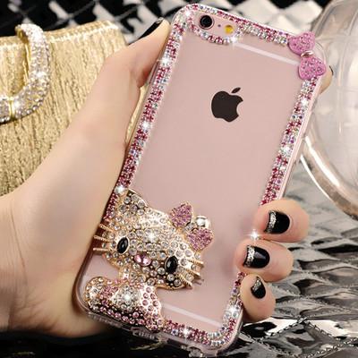 三星N7100 note2 N7102 n7108 N719保护套外壳水晶女孩水钻手机壳