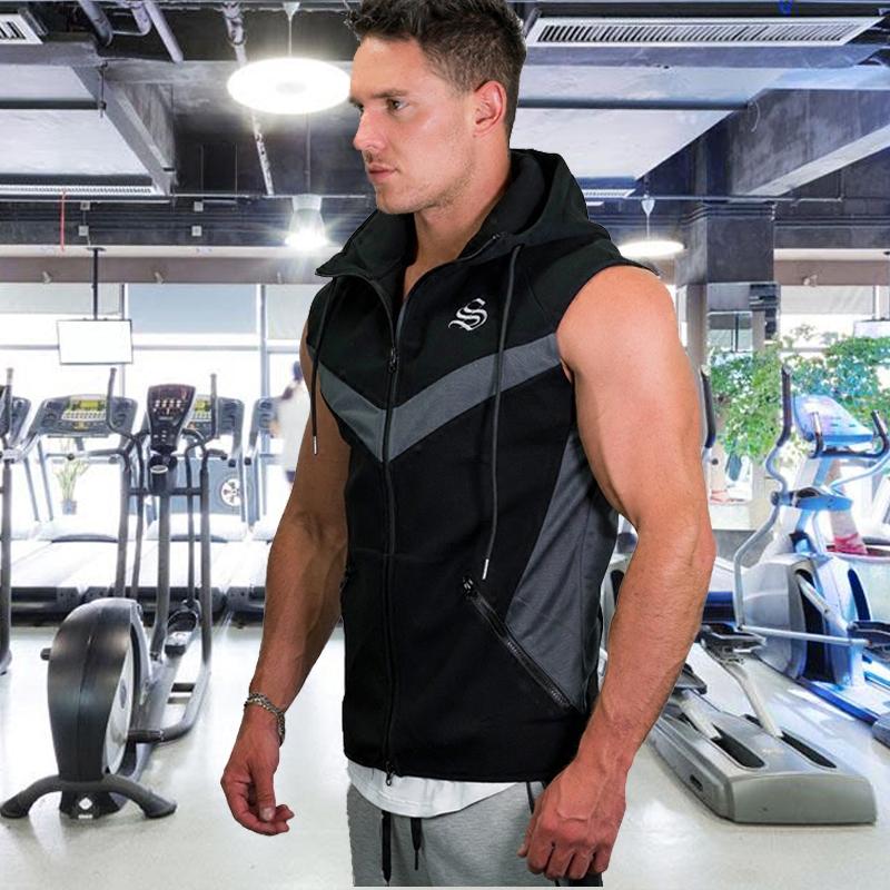 肌肉健身衣运动训练健身服型男兄弟连帽套头帽衫卫衣马甲上衣跑步3元优惠券