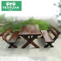 全实木户外桌椅 阳台休闲桌椅 酒吧桌椅宽板防腐木桌椅套装