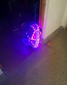 电动独轮车自平衡车闪灯 爱尔威x3灯条电动独轮车彩灯 独轮车改装