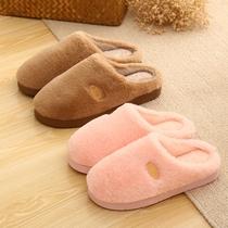 棉拖鞋女防滑冬季情侣居家居厚底室内加绒保暖地板月子鞋拖男