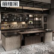 丽维家 双饰面板厨柜 现代厨房 装修家具 整体橱柜定做 全屋定制