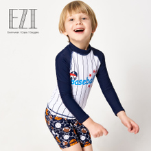 Children's Swimming Suit Boys and Babies Swimming Suit Split Long Sleeve Sunscreen Surfing Suit in Children's Swimming Suit