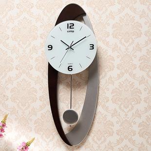 钟表挂钟 客厅钟现代欧式创意挂钟艺术家用 简约时尚个性静音时钟
