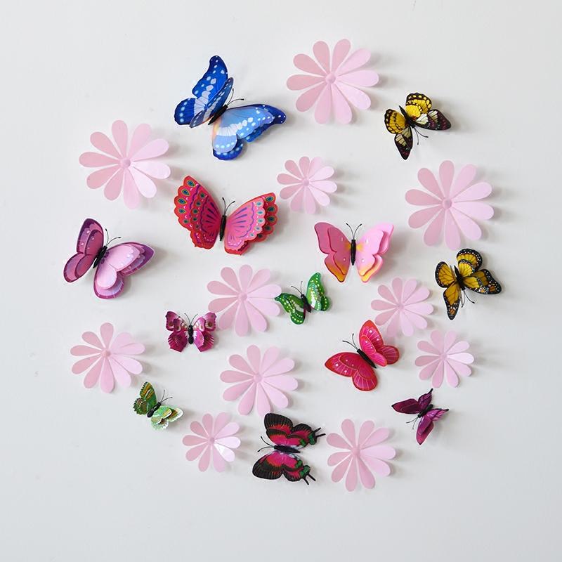 装饰贴画3d立体墙贴小花
