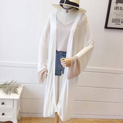韩版春装宽松针织开衫女防晒外套薄款大码空调衫2018夏装新款中长