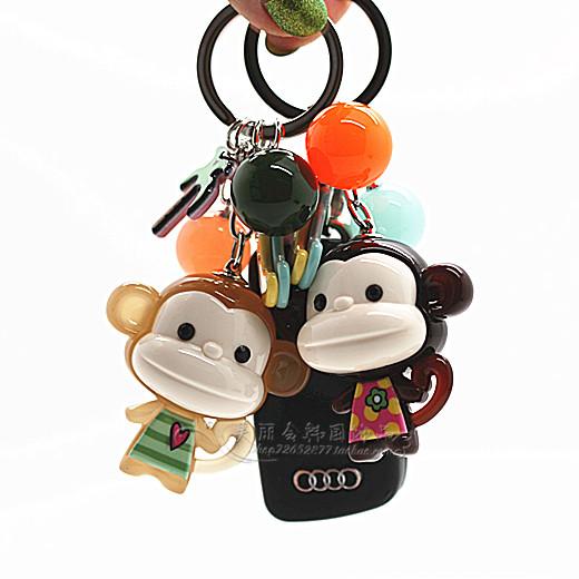 韩国graindebeauteaznavour萌萌哒可爱小猴子简约车钥匙扣包挂件