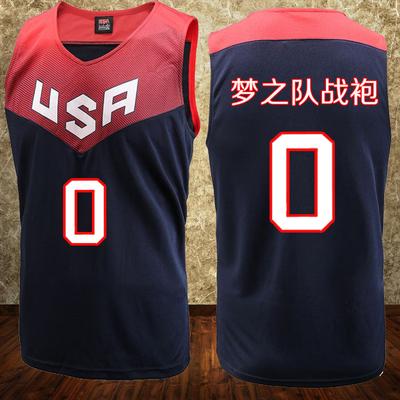 美国国家队篮球服套装 梦十一梦之队男光板球衣 团购定制DIY印号