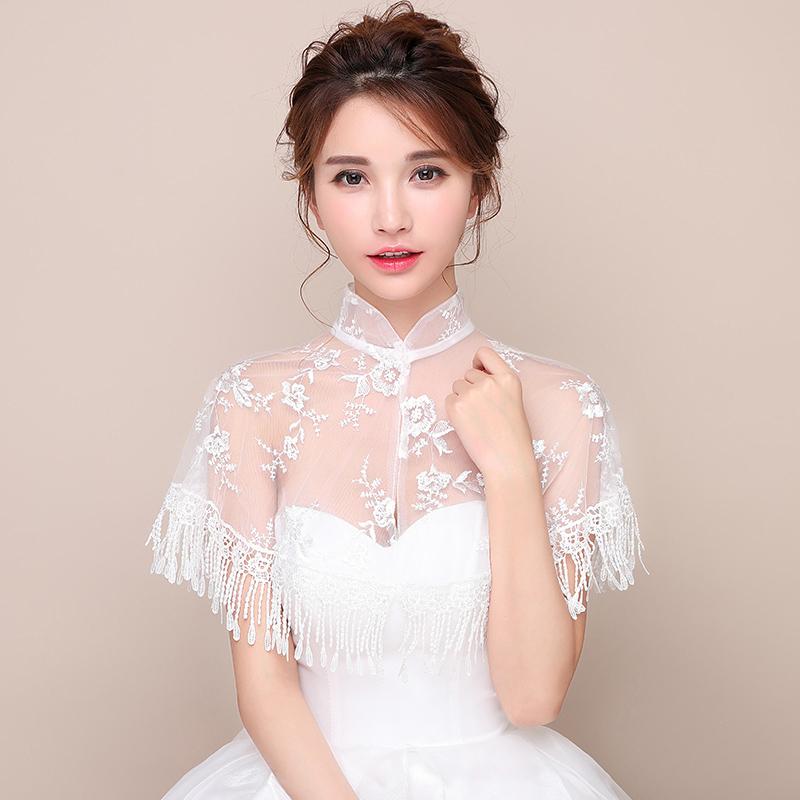 白色蕾丝小披肩