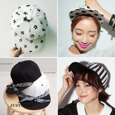 韩版简约时尚百搭平沿嘻哈街舞棒球帽男女潮流户外遮阳帽促销包邮