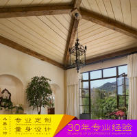2017 new solid wood decorative false professional custom ceiling hollow beam residential office leisure dedicated log beam