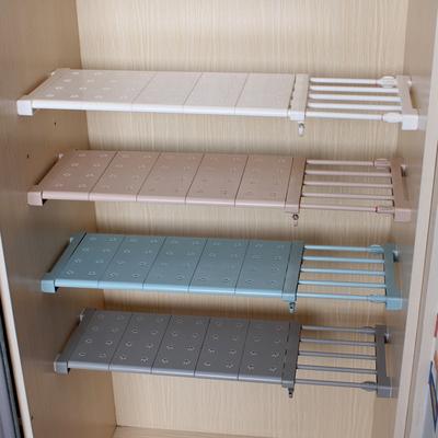 衣柜收纳分层隔板柜子免钉置物架橱柜浴室可伸缩分隔层架宿舍神器