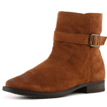 美国直邮SAM EDELMAN 325823女靴翻毛皮休闲平跟靴正规ag娱乐官网|官方套筒靴子图片