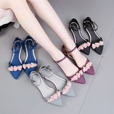 0c97fb335 2019 new word buckle plastic sandals flat jelly shoes female summer pointed  casual beach camellia plastic