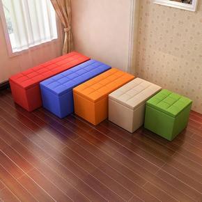 换鞋凳服装店凳沙发长凳休息皮时尚穿鞋简约现代长条凳子软皮
