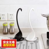 巧居家 长柄大粥勺盛稀饭火锅勺子 塑料天鹅汤勺创意家用厨房餐具
