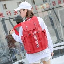 字母印花真皮双肩包男女通用百搭大容量笔记本电脑背包牛皮旅行包