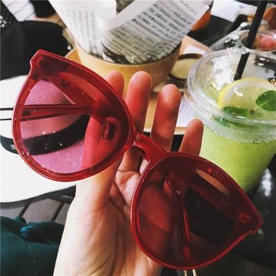 旅侠 网红款彩色个性透明太阳镜墨镜 凹造型度假沙滩镜
