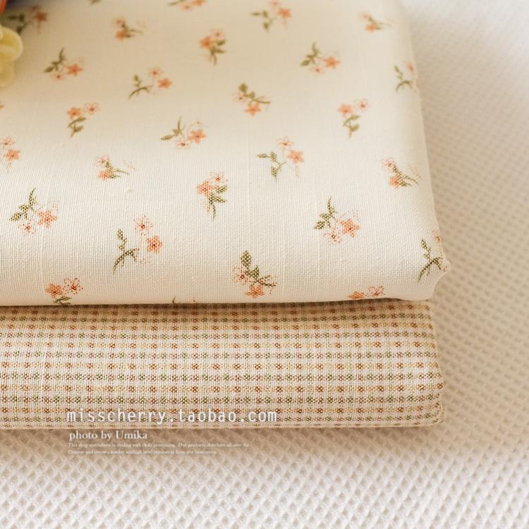 格子棉混纺布