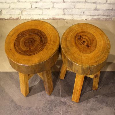 小木墩凳子