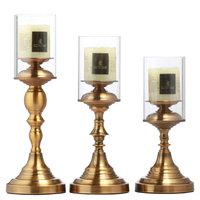 美式中式简约欧式蜡烛台摆件法式浪漫晚餐烛台新古典装饰品蜡烛罩