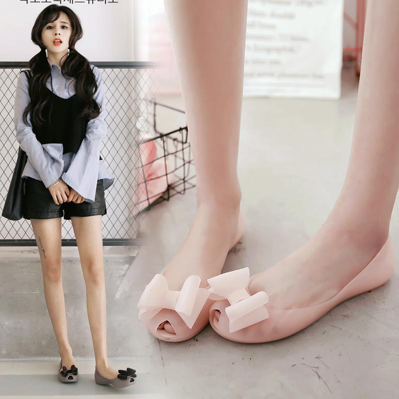 果冻蝴蝶结鞋