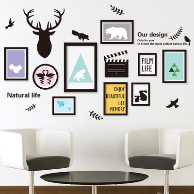 卧室客厅沙发背景墙面墙壁装饰自粘墙贴纸照片墙纸美丽人生照片框网上专卖店