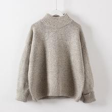 加厚套头毛衣女冬季保暖宽松半高领外套针织衫 学生毛线衣打底衫图片