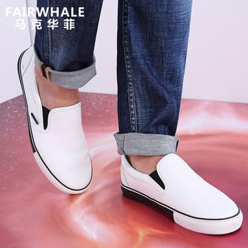 马克华菲春季新款个性字母百搭潮流低帮鞋休闲板鞋时尚男款