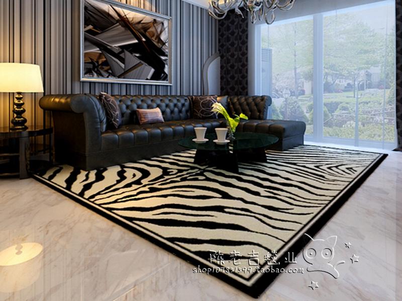 腈纶黑白地毯