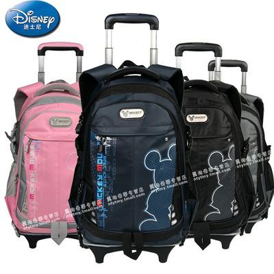 迪士尼正品米奇米妮中学生小学生拉杆书包可拆卸防雨罩儿童书包