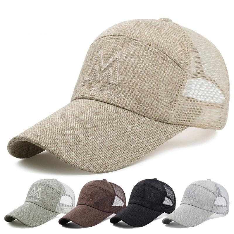 男士太阳帽网帽透气凉帽夏季户外休闲帽子潮遮阳防晒鸭舌帽棒球帽