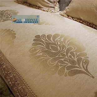 沙发巾真皮沙发一体布艺沙发垫简约现代新品斜纹沙发垫子澳洲皮毛