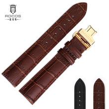 正品雷克斯手表皮带配件男士皮带蝴蝶扣机械表皮表带防水20/18mm