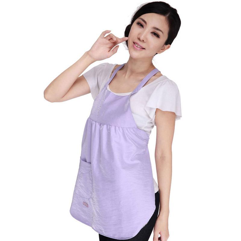 婷美银纤维防辐射围裙孕妇装2019可拆洗加长肚兜电脑手机防护服
