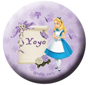 热销爱丽丝漫游绿野仙踪生日派对聚会来宾回礼小礼物个性徽章