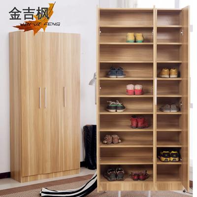 现代简约大容量木质鞋柜多层可调节鞋架阳台玄关柜收纳柜包邮