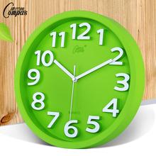 康巴丝静音挂钟客厅圆创意钟表时尚现代石英钟简约卧室时钟壁挂钟