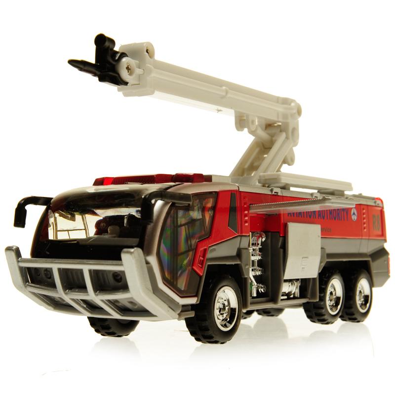 蒂雅多机场消防车儿童玩具消防车合金回力车消防汽车模型声光玩具1元优惠券