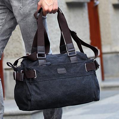 男士帆布手提包大容量时尚旅行包男式休闲包挎包男单肩包特价男包