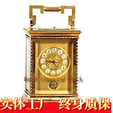 Five functions Gold-plated leather case watches | Retro mechanical European Western classic clock | Home decorative model room