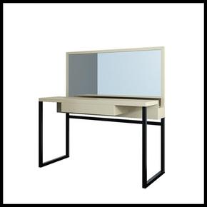 个性梳妆台卧室现代简约梳妆台小户型烤漆化妆桌带镜子带抽屉定做