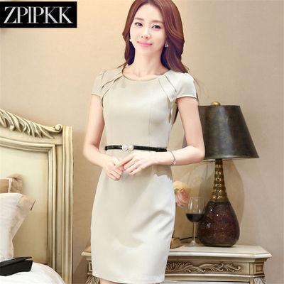 轻奢品ZPLPKK 职业连衣裙按摩养生女士工作服韩版修身大码打底裙