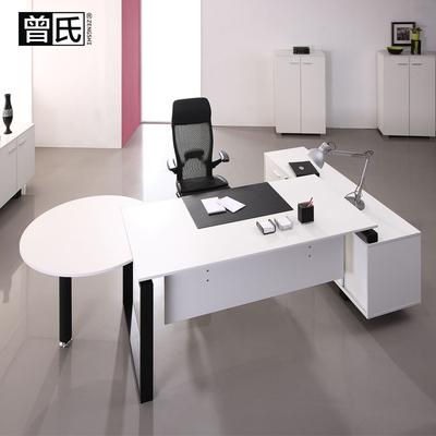办公桌现代简约老板办公桌钢木多少钱