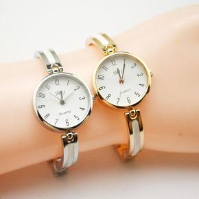 潮流时尚钢带手链手表女士陶瓷表韩版水钻学生石英表手表批发厂家