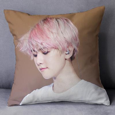 exo边伯贤周边抱枕同款明星专辑照片定制办公室沙发生日礼物定制哪个好